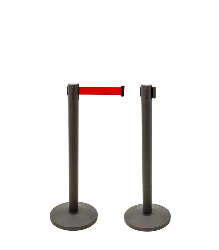 Poste Separador de Filas com cinta 3mt